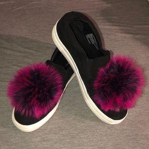 Steve Madden pompom sneakers